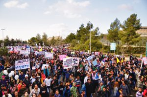Manifestation de juifs éthiopiens en Israël.