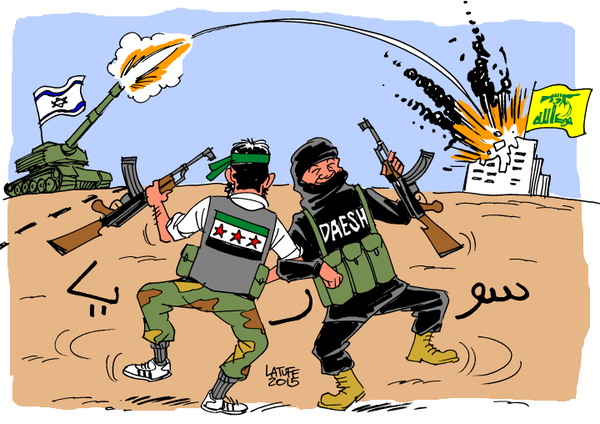 Afbeeldingsresultaat voor US zionist plan on Syria cartoon