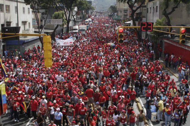 Pueblo de Venezuela el primero de mayo