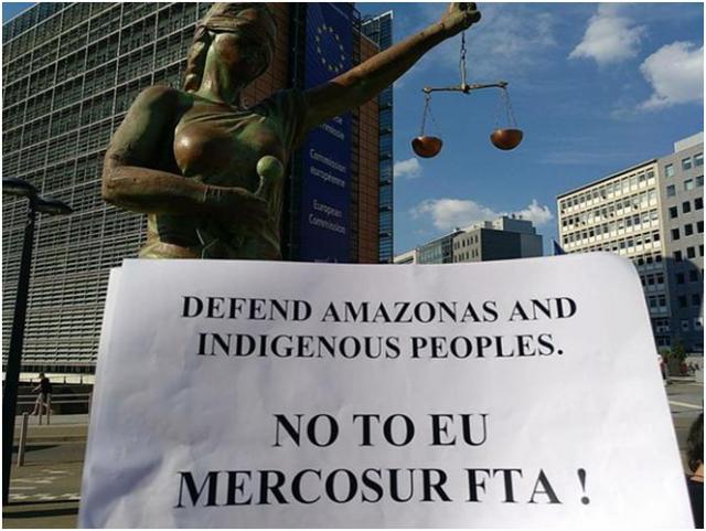 Le traité UE-Mercosur, un chèque en blanc pour violer les droits de l'homme et dévaster la planète dans - DROITS index-640x481